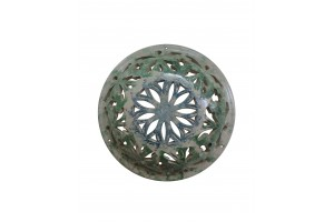 Round Perforated Wall Applique 23 - Applique Collection