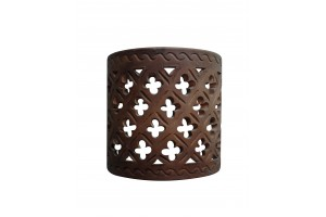 Cylindrical Perforated Wall Applique 16 - Applique Collection