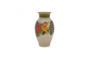 Vase with Edge -  Poppies & Ears Decoration - Vessels Collection