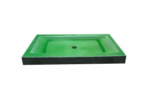 Lava Stone Shower Tray Green Grass Cristal - Shower Tray Collection